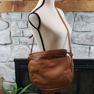 Vtg Trio of California tan genuine leather purse